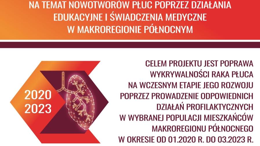 Program Wczesnego wykrywania Raka Płuca realizowany przez Uniwersytecie Centrum Kliniczne w Gdańsku